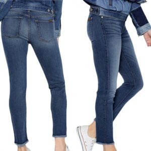 7 FOR ALL MANKIND Roxanne Blue Skinny Jeans